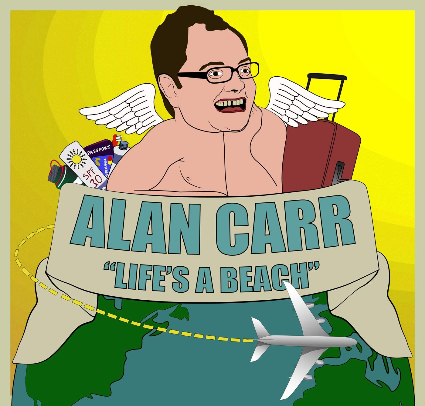 Alan Carr Life's a Beach podcast cover